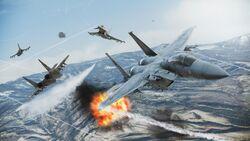 Team Deathmatch in Ace Combat Infinity