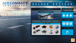 Ace Combat 7 Deluxe Edition Contents