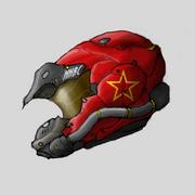 Colonel Meyran's Ace Helmet by PrinzEugn