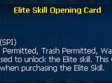 Elite skill opening card