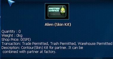 Alien PET skin