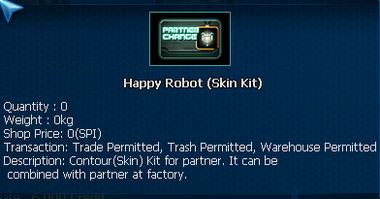 Happy Robot PET skin