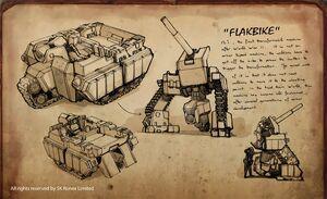 Flak Bike Drawing