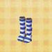 Blue-Stripe Tights