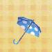 Blue Dot Parasol