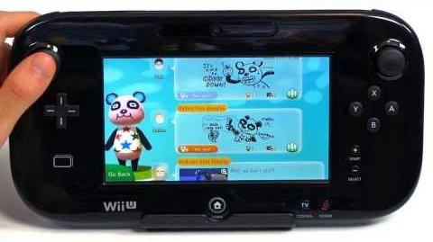 What is Animal Crossing Plaza on Wii U?