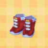 Red wrestling shoes