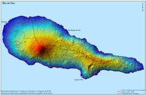 Pico Island Map Portugal1