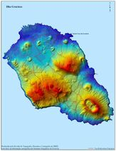 Graciosa Island Map Portugal 2