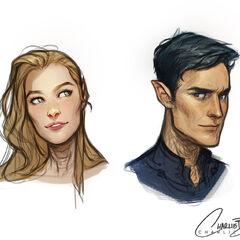 Rhys and Feyre