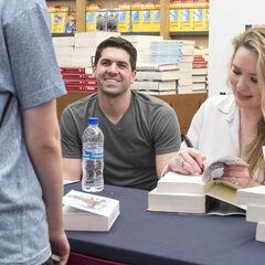 Sarah and her husband Josh.