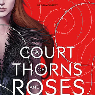 British cover for <i>A Court of Thorns and Roses</i>