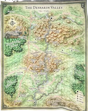 Dessarin Valley Region Map