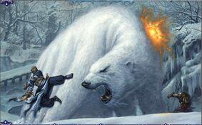 Dire polar bear