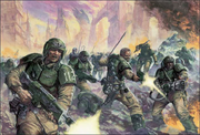 Imperial Guard Charge