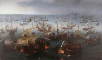 Vroom Hendrick Cornelisz Battle between England and Spain 1601