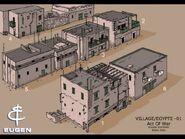 DA ConceptArt Village Egypt