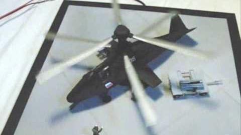 ズベズダ Ka-58 Black Ghost 二重反転無理やり可動 EX-FC100 (30-210fps)