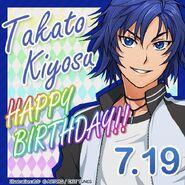 Takato Kiyosu Happy Birthday Card
