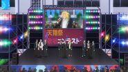 Ryo singing INAZUMA SHOCK on the screen