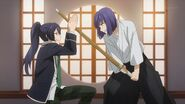 Kaoru and Ushio continuing to fight
