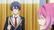 Uta telling Nozomi Saku's all smiles