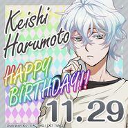 Keishi Harumoto Happy Birthday Card