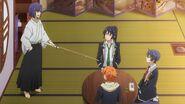 Ushio telling Kaoru how dare you pair western sweets with matcha