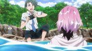 Uta surprising Chiguma and a cat