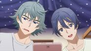 Saku and Sosuke feeling uneased by the lyrics Uta wrote