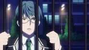 Satsuma telling Ryo we're not supposed to go onto school grounds