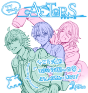 Saku, Sosuke, and Uta Tv Broadcasting Illustration