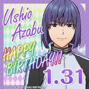 Ushio Azabu Happy Birthday Card