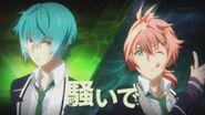 Koya and Seijun appearing during INAZUMA SHOCK