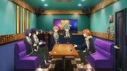 Hinata persuading to Ushio, Kaoru, Koya, and Seijun
