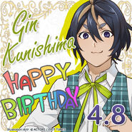 Gin Kunishima Happy Birthday