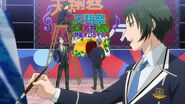 Rei and Kakeru painting for the singing contest