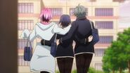 Saku, Sosuke, and Uta with arms around each other's backs