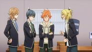 Ryo asking Hinata, Satsuma, and Mitsuki there's someone out their bullying the cats