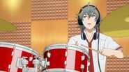Sosuke playing on the drums