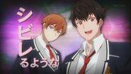 Hajime and Masaru appearing during INAZUMA SHOCK