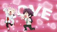 Kakeru and Uta surrounded by hearts and love