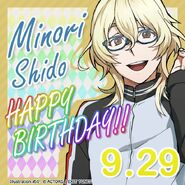 Minori Shido Happy Birthday Card