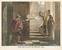Balthasar-Gerards-schier-Willem-van-Oranje-neer-1584-e1453711352729