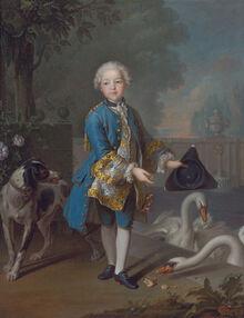 Louis Philippe Joseph, Duc d'Orleans and Duc de Chartres by Louis Tocqué