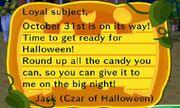 Halloween Letter