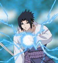 Uchiha Sasuke with Chidori by Garnboll