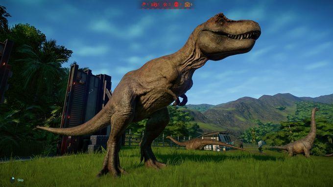 Releasing a T-Rex into the par