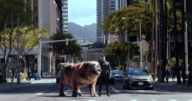 Inhumans: Lockjaw and Black Bolt in downtown Honolulu