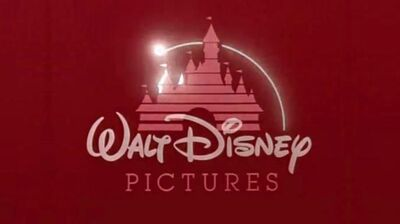Walt Disney Pictures logo (Closing Red Background Variant)
